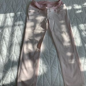 Mama Skinny Ankle Jeans In Light Pink
